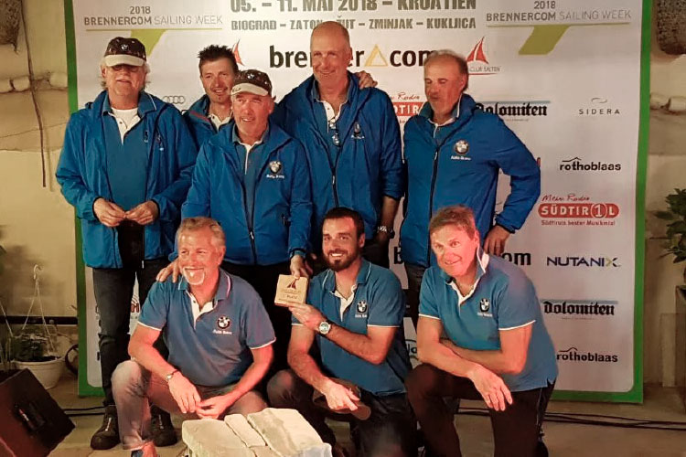 Brennercom sailing week 2018: Gruppe mit Thomas Wächter