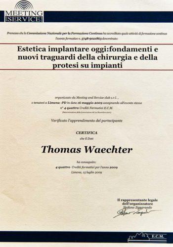 2009-Zertifikat-Aesthetische-Zahnheilkunde-Certificato-Odontoiatria-Protesica-Limena-Padova-Dr-Thomas-Waechter-Zahnarzt-Odontoiatra-Bozen-Bolzano