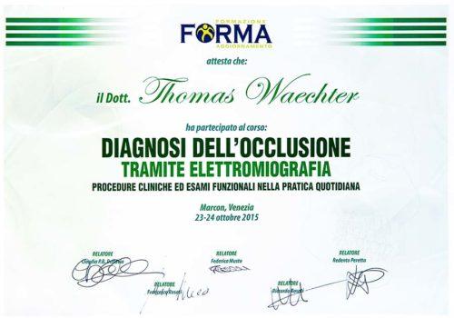 2015-Zertifikat-Funktionelle-Zahneilkunde-Certificato-Odontoiatria-Funzionale-Marcon-Venezia-Dr-Thomas-Waechter-Zahnarzt-Odontoiatra-Bozen-Bolzano