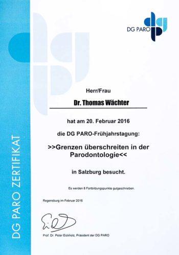 2016-Zertifikat-Parodontologie-Certificato-Parodontologia-Salzburg-Dr-Thomas-Waechter-Zahnarzt-Odontoiatra-Bozen-Bolzano-2