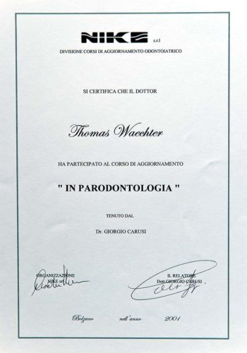 2001-Zertifikat-Parodontologie-Certificato-Parodontologia-Bozen-Bolzano-Dr-Thomas-Waechter-Zahnarzt-Odontoiatra-Bozen-Bolzano