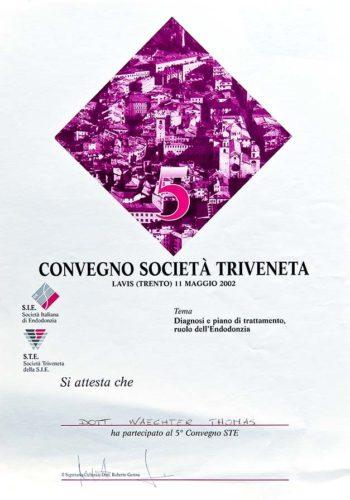 2002-Zertifikat-Endodontie-Certificato-Endodonzia-Lavis-Trento-Dr-Thomas-Waechter-Zahnarzt-Odontoiatra-Bozen-Bolzano
