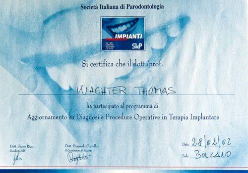 2002-Zertifikat-Parodontologie-Certificato-Parodontologia-Bozen-Bolzano-Dr-Thomas-Waechter-Zahnarzt-Odontoiatra-Bozen-Bolzano
